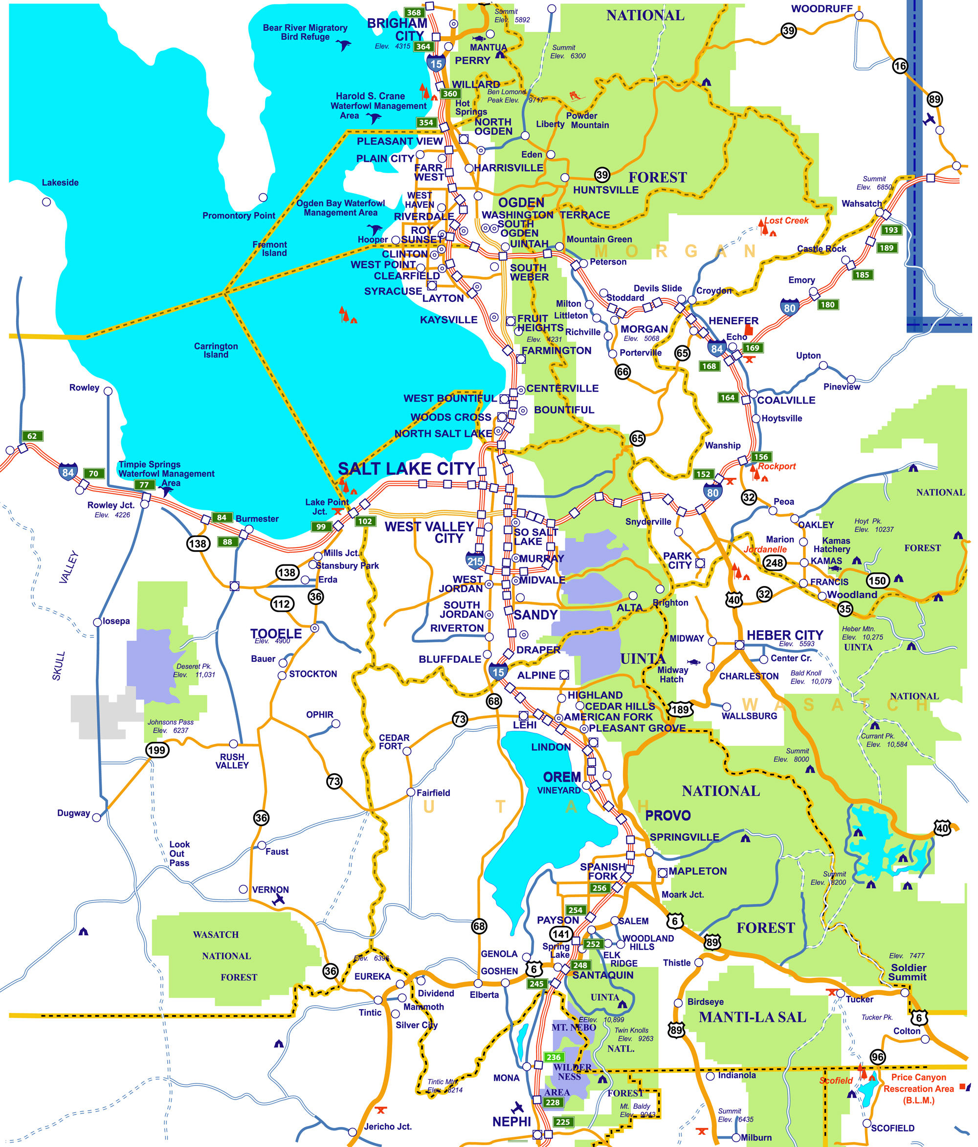 Area Maps | Utah Ski Authority